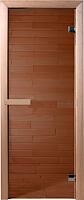 Стеклянная дверь для бани/сауны Doorwood Бронза 190x70.6 (коробка хвоя) -