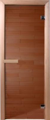 Стеклянная дверь для бани/сауны Doorwood Бронза 190x70.6