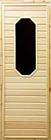 Деревянная дверь для бани Doorwood 185x75 (со стеклом 8-миугольным) -