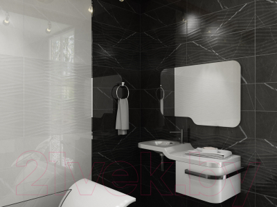 Плитка Gracia Ceramica Geneva Black Wall 01 (250x750)