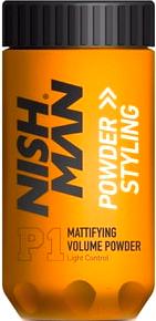 Текстурирующая пудра для волос NishMan Powder Hair Styling матовая (20г)