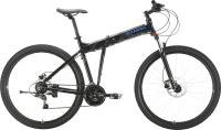 Велосипед STARK Cobra 29.2 HD 2021 (18, черный/голубой) -