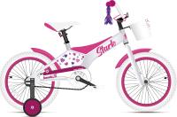 Детский велосипед STARK Tanuki 18 Girl 2021 (белый/розовый) -