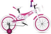 Детский велосипед STARK Tanuki 16 Girl 2021 (белый/розовый) -