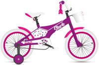 Детский велосипед STARK Tanuki 16 Girl 2021 (фиолетовый/розовый) -