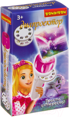 Игрушка детская Bondibon Диапроектор-фонарик. Лошади / ВВ3202