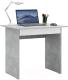 Письменный стол MFMaster Милан-2Я / МСТ-СДМ-2Я-ЕБ-16 (бетон/белый) -