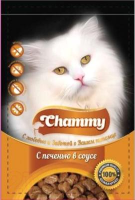 Корм для кошек Chammy С печенью (85г)