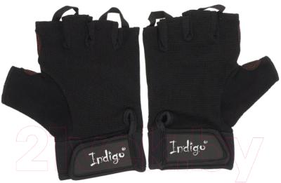 Перчатки для пауэрлифтинга Indigo SB-16-1575 (M, черный)