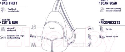 Рюкзак Pacsafe Stylesafe Sling 20605606 (темно-синий)
