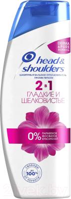 Фото - Шампунь для волос Head & Shoulders Гладкие и шелковистые против перхоти 2 в 1 шампунь для гладкости волос pro series гладкие и шелковистые 500 мл