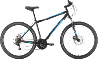 Велосипед Black One Onix 27.5 D 2021 (18, черный/синий/серый) -