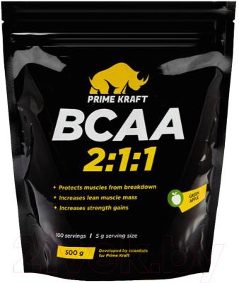 Аминокислоты BCAA Prime Kraft 2:1:1 зеленое яблоко