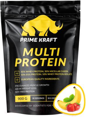 Протеин Prime Kraft Multi Protein Клубника-банан