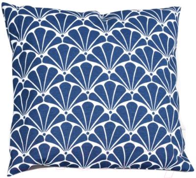 Подушка декоративная Эскар Blue Garden 40х40 / 122469140