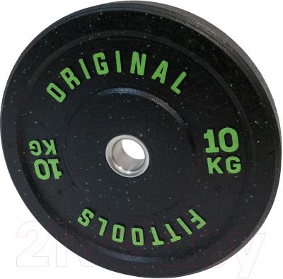 Диск для штанги Original FitTools FT-RPI-10
