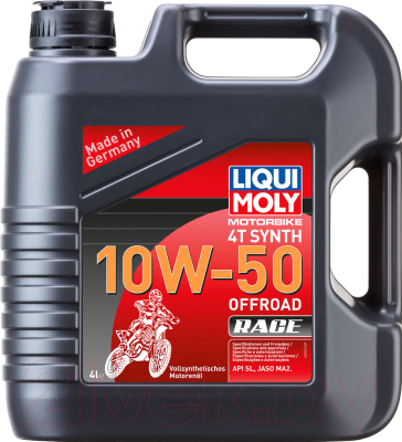Моторное масло Liqui Moly Motorbike 4T Synth Offroad Race 10W50 / 3052 (4л)