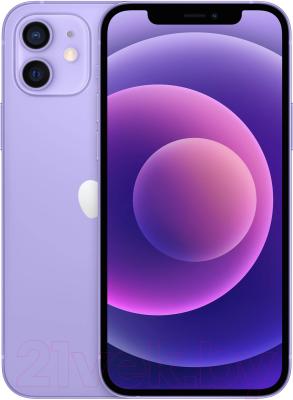 Смартфон Apple iPhone 12 64GB / MJNM3 (фиолетовый) смартфон apple iphone 6s как новый 64gb розовое золото