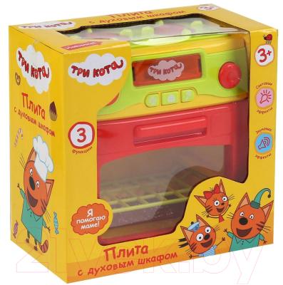 Кухонная плита игрушечная Играем вместе Три кота / B1419392-R игрушки для ванны играем вместе игра рыбалка три кота k095 h19006 r