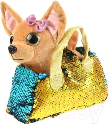 10 gold round coated cakeboard 12 ct Мягкая игрушка Мой питомец Собачка в золотой сумочке из пайеток / CT-AD191170-GOLD