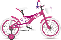 Детский велосипед STARK Tanuki 14 Girl 2021 (розовый/фиолетовый) -