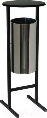 Урна уличная Титан Мета СЛ-250Н (хром)