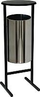 Урна уличная Титан Мета СЛ-300Н (хром) -