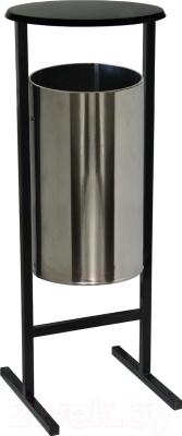 Урна уличная Титан Мета СЛ-300Н (хром)