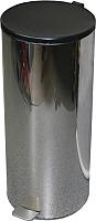 Мусорное ведро Титан Мета 50л (хром) -