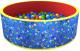 Игровой сухой бассейн Romana Веселая поляна ДМФ-МК-02.51.02 (100 шариков, синий/красный) -