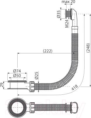 Выпуск (донный клапан) Alcaplast A328CR (хром)