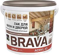 Лак MAV Brava ВД-АК-1043 (1л, полуматовый) -