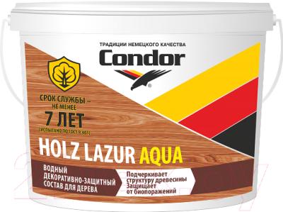 Защитно-декоративный состав CONDOR Holz Lazur Aqua (900г, сосна)