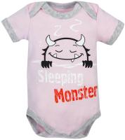 Боди для младенцев Amarobaby Monsters / AMARO-ODM1-R0-56 (розовый, р. 56) -