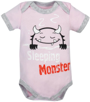 Боди для младенцев Amarobaby Monsters / AMARO-ODM1-R0-68 (розовый, р. 68) -