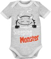 Боди для младенцев Amarobaby Monsters / AMARO-ODM1-S0-68 (серый, р. 68) -