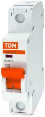 Выключатель автоматический TDM ВА 47-29 1Р 10А (C) 4.5кА / SQ0206-0072