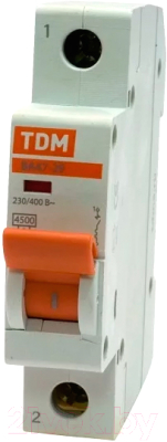 Выключатель автоматический TDM ВА 47-29 1Р 20А (C) 4.5кА / SQ0206-0075