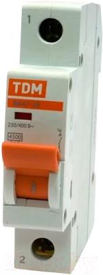 Выключатель автоматический TDM ВА 47-29 1Р 40А (C) 4.5кА / SQ0206-0078