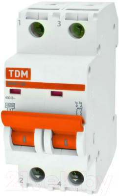 Выключатель автоматический TDM ВА 47-29 2Р 25А (C) 4.5кА / SQ0206-0095