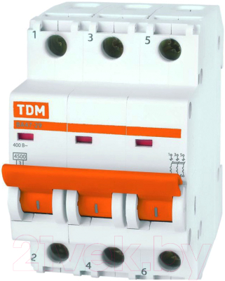 Выключатель автоматический TDM ВА 47-29 3Р 16А (C) 4.5кА / SQ0206-0109