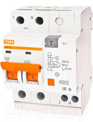 Дифференциальный автомат TDM АД-12-2Р-16А-30мА / SQ0204-0006