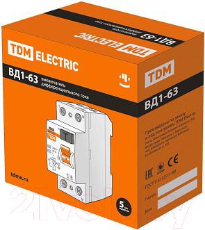 Дифференциальный автомат TDM ВД1-63-2Р-40А-30мА / SQ0203-0013