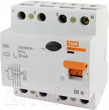 Дифференциальный автомат TDM ВД1-63-4Р-40А-30мА / SQ0203-0038