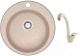Мойка кухонная Berge BR-5100 + смеситель GR-4003 (бежевый/пирит) -
