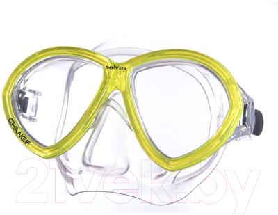 Маска для плавания Salvas Change Mask / CA195C2TGSTH маска для плавания salvas phoenix mask арт ca520s2bysth зак стекло силикон р senior сереб син