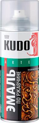 Эмаль Kudo Молотковая по ржавчине (520мл, серебристо-вишневый)