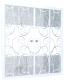 Стеклянная шторка для ванны Triton Узоры 170x147.5 -