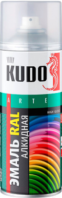 Эмаль Kudo Универсальная (520мл, вишневый)