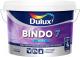 Краска Dulux Bindo 7 для стен и потолков (2.25л, бесцветный матовый) -
